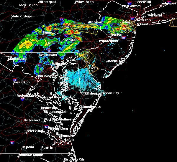 Radar Image for Severe Thunderstorms near Bear, DE at 7/21/2019 10:42 PM EDT