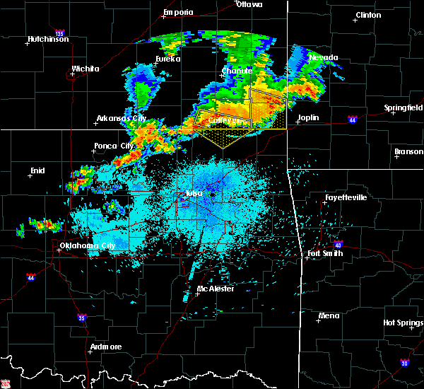 Radar Image for Severe Thunderstorms near Fairland, OK at 7/21/2019 9:55 PM CDT