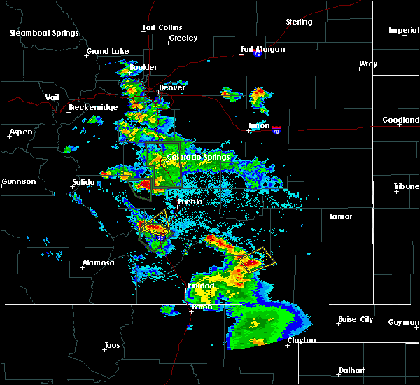 Radar Image for Severe Thunderstorms near Colorado City, CO at 7/21/2019 9:05 PM MDT