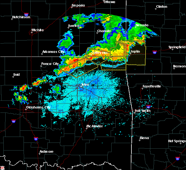 Radar Image for Severe Thunderstorms near Fairland, OK at 7/21/2019 10:16 PM CDT