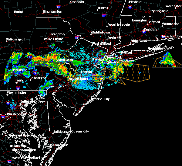 Radar Image for Severe Thunderstorms near Burlington, NJ at 7/21/2019 11:53 PM EDT
