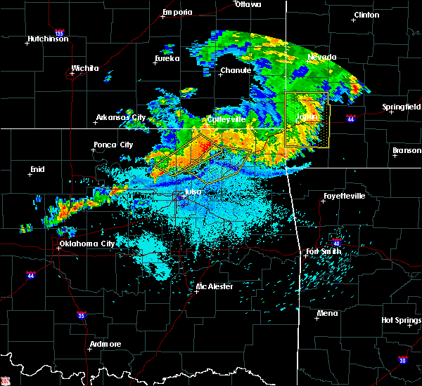 Radar Image for Severe Thunderstorms near Claremore, OK at 7/21/2019 10:57 PM CDT