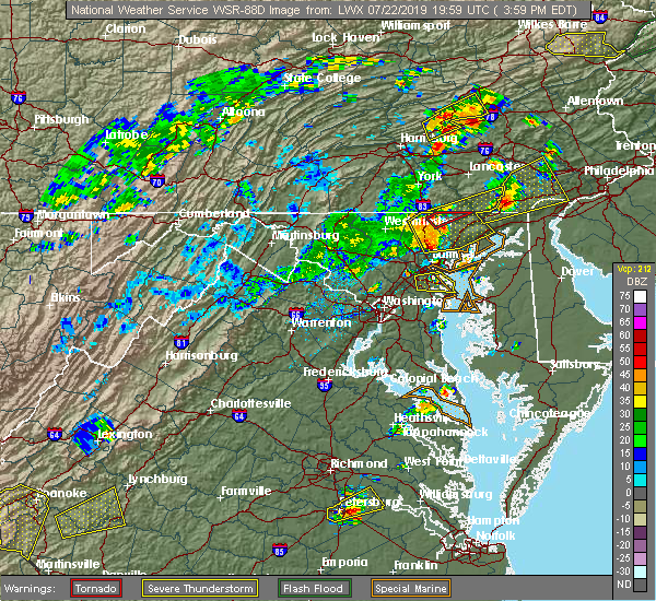 Radar Image for Severe Thunderstorms near Lake Shore, MD at 7/22/2019 4:06 PM EDT