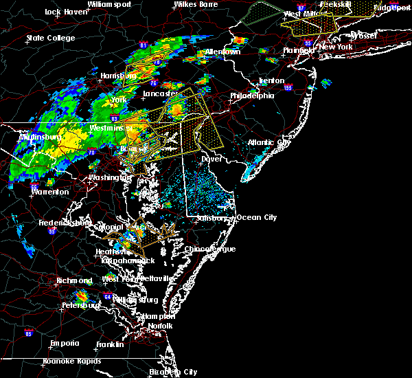Radar Image for Severe Thunderstorms near Georgetown, MD at 7/22/2019 4:20 PM EDT