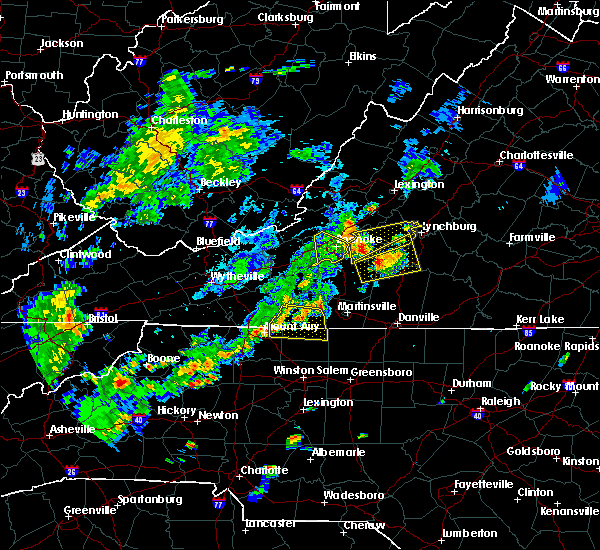 Radar Image for Severe Thunderstorms near Timberlake, VA at 7/22/2019 4:33 PM EDT