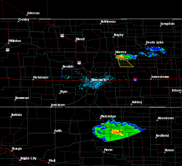 Radar Image for Severe Thunderstorms near Bowdon, ND at 6/20/2015 10:26 PM CDT