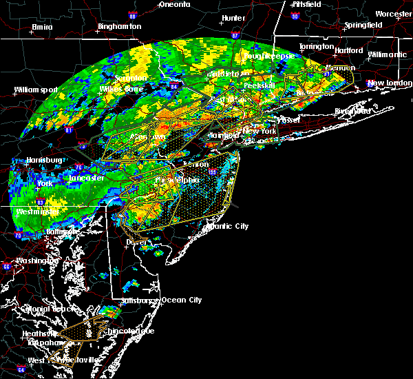 Radar Image for Severe Thunderstorms near Yardley, PA at 7/22/2019 5:53 PM EDT