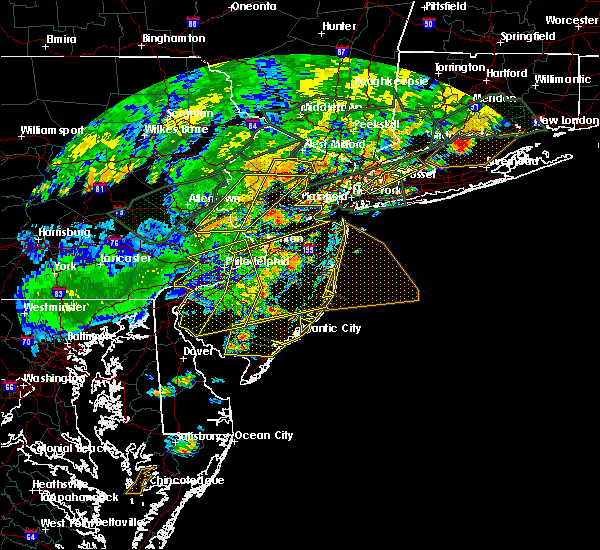 Radar Image for Severe Thunderstorms near Yardley, PA at 7/22/2019 6:16 PM EDT