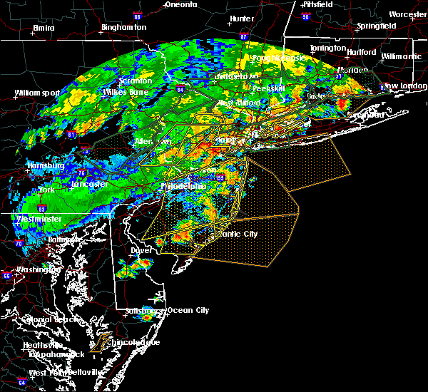 Radar Image for Severe Thunderstorms near Heathcote, NJ at 7/22/2019 6:30 PM EDT