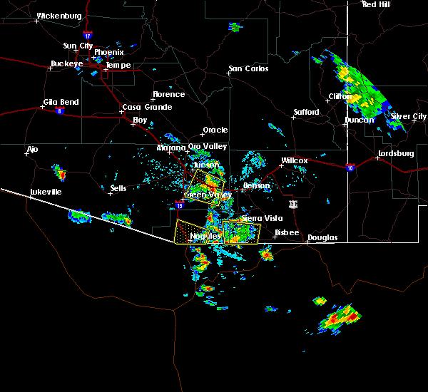 Radar Image for Severe Thunderstorms near Beyerville, AZ at 7/22/2019 3:34 PM MST