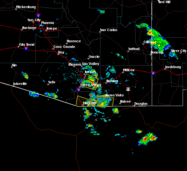 Radar Image for Severe Thunderstorms near Sierra Vista Southeast, AZ at 7/22/2019 3:41 PM MST