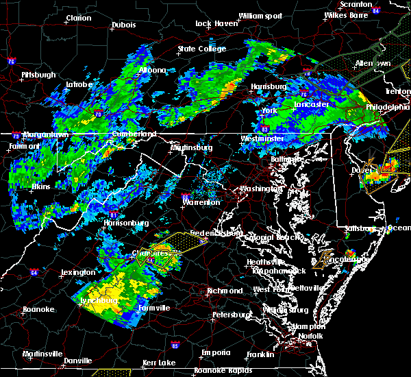 Radar Image for Severe Thunderstorms near Louisa, VA at 7/22/2019 6:59 PM EDT