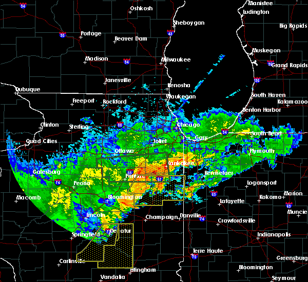 Radar Image for Severe Thunderstorms near Woodland, IL at 6/20/2015 10:49 PM CDT