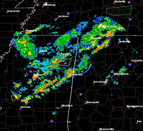 Radar Image for Severe Thunderstorms near Shannon, MS at 7/22/2019 6:34 PM CDT