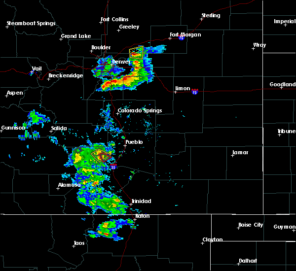Radar Image for Severe Thunderstorms near Beulah Valley, CO at 7/22/2019 6:08 PM MDT