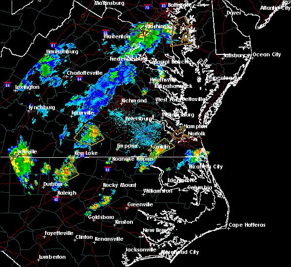 Radar Image for Severe Thunderstorms near McKenney, VA at 7/22/2019 8:54 PM EDT