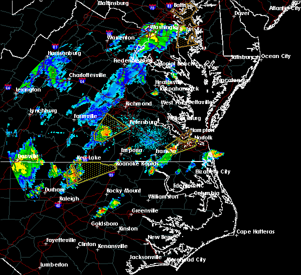 Radar Image for Severe Thunderstorms near McKenney, VA at 7/22/2019 9:06 PM EDT