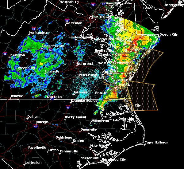 Radar Image for Severe Thunderstorms near Chincoteague, VA at 6/21/2015 12:19 AM EDT