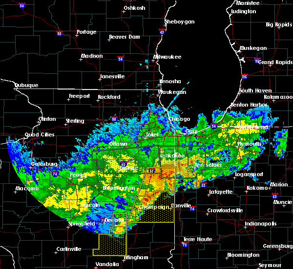 Radar Image for Severe Thunderstorms near Otterbein, IN at 6/21/2015 12:27 AM EDT