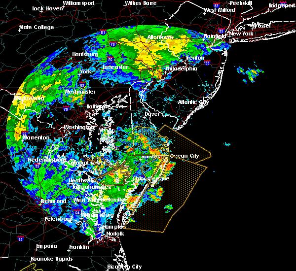 Radar Image for Severe Thunderstorms near Laurel, DE at 7/23/2019 12:32 AM EDT