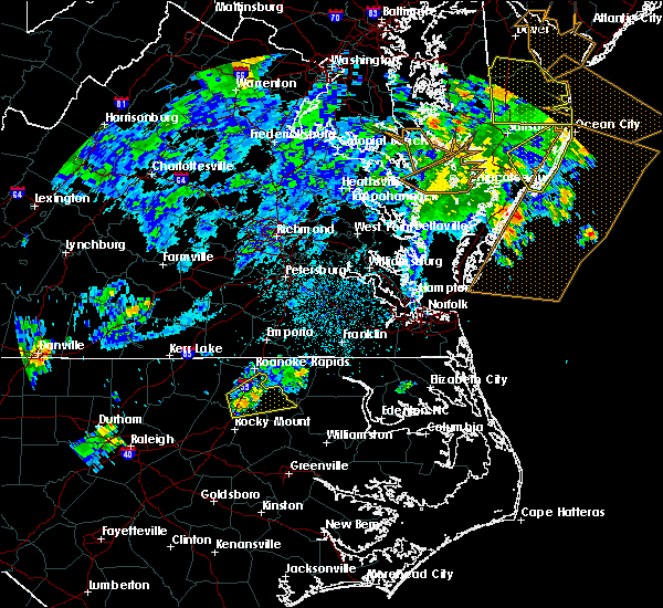 Radar Image for Severe Thunderstorms near Halifax, NC at 7/23/2019 12:41 AM EDT