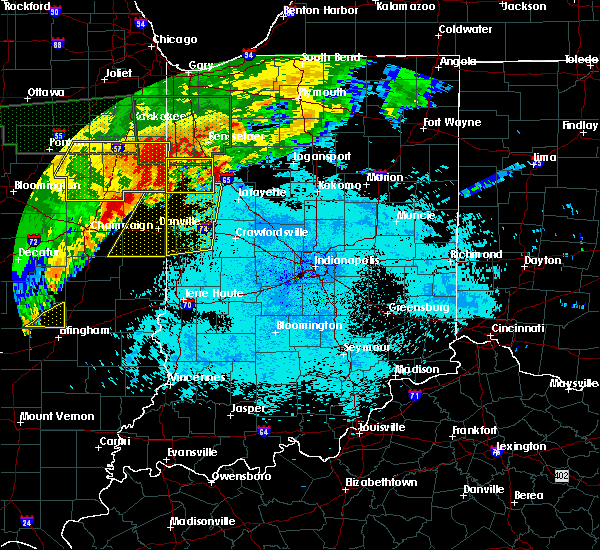 Radar Image for Severe Thunderstorms near Otterbein, IN at 6/21/2015 12:39 AM EDT