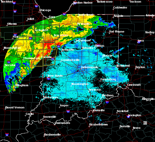 Radar Image for Severe Thunderstorms near Otterbein, IN at 6/21/2015 12:51 AM EDT