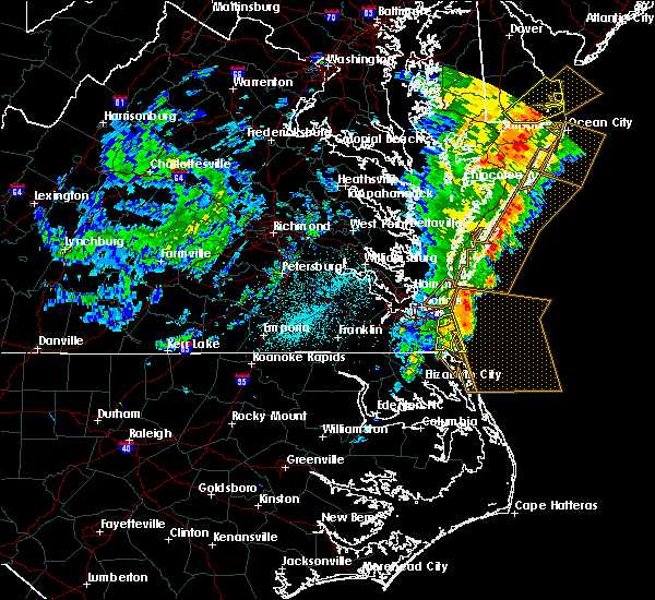 Radar Image for Severe Thunderstorms near Chesapeake, VA at 6/21/2015 12:55 AM EDT