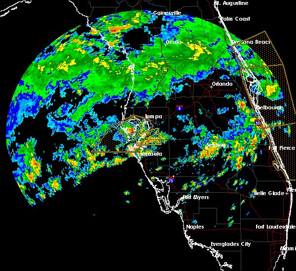Radar Image for Severe Thunderstorms near Tampa, FL at 7/24/2019 2:10 PM EDT