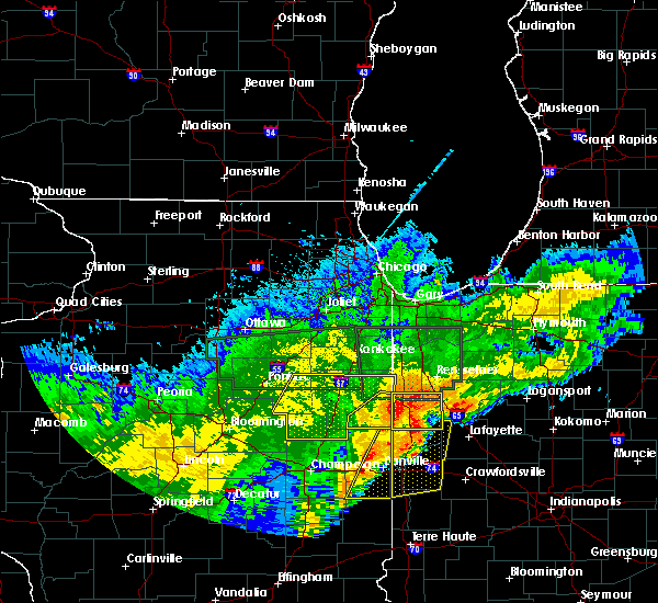 Radar Image for Severe Thunderstorms near Otterbein, IN at 6/21/2015 12:58 AM EDT