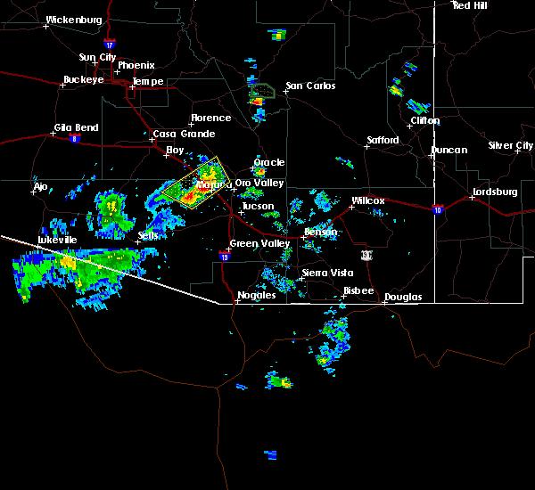 Radar Image for Severe Thunderstorms near Marana, AZ at 7/24/2019 6:13 PM MST