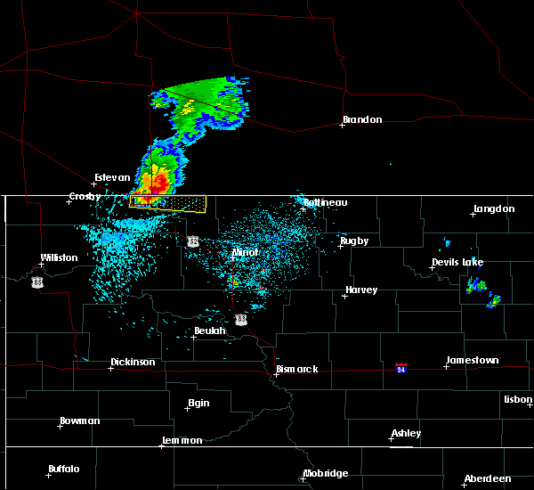 Radar Image for Severe Thunderstorms near Flaxton, ND at 7/25/2019 1:12 AM CDT