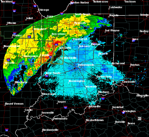 Radar Image for Severe Thunderstorms near Otterbein, IN at 6/21/2015 1:10 AM EDT