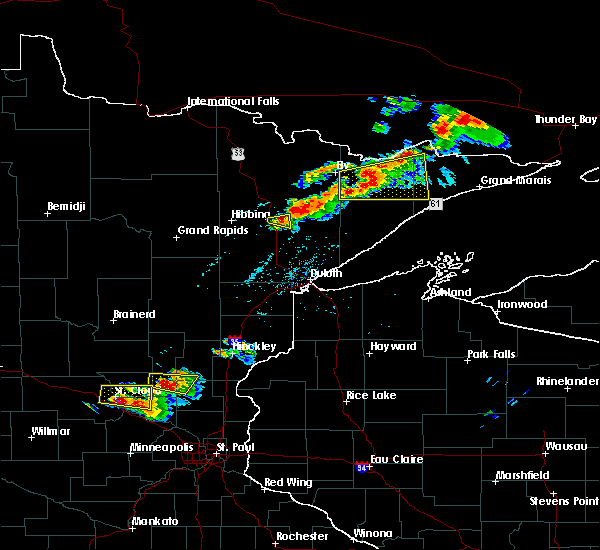 Radar Image for Severe Thunderstorms near Aurora, MN at 7/26/2019 6:02 PM CDT