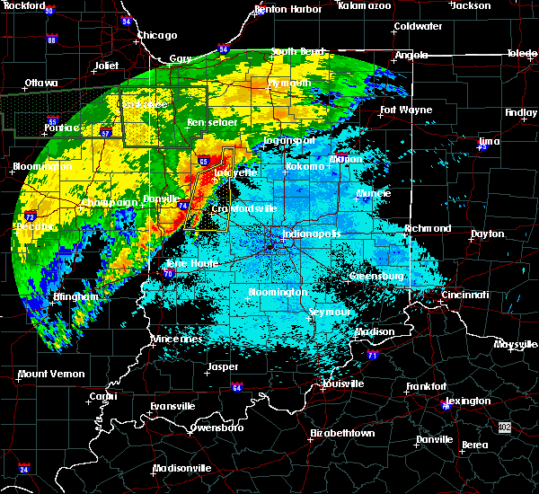 Radar Image for Severe Thunderstorms near Marshall, IN at 6/21/2015 1:31 AM EDT