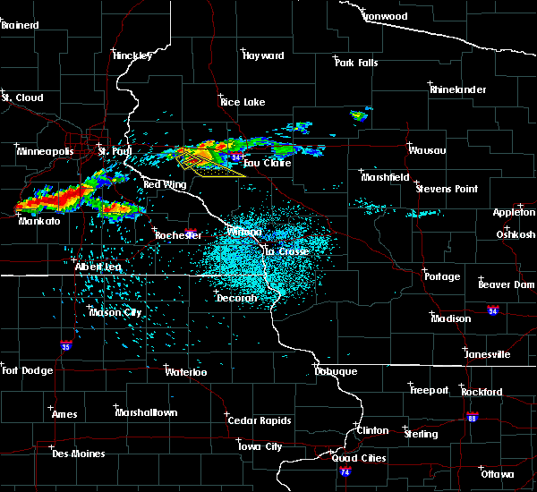 Radar Image for Severe Thunderstorms near Durand, WI at 7/27/2019 12:13 AM CDT