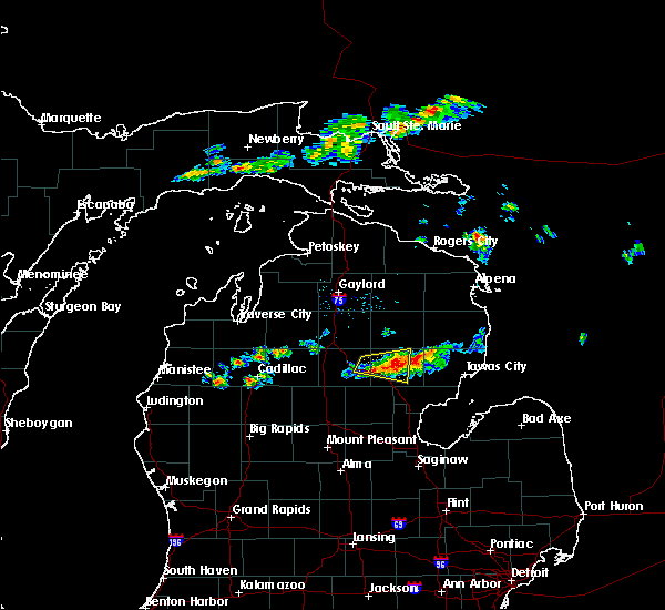 Radar Image for Severe Thunderstorms near Au Sable, MI at 7/27/2019 2:51 PM EDT