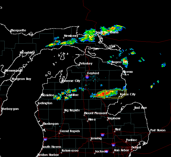 Radar Image for Severe Thunderstorms near Au Sable, MI at 7/27/2019 2:57 PM EDT