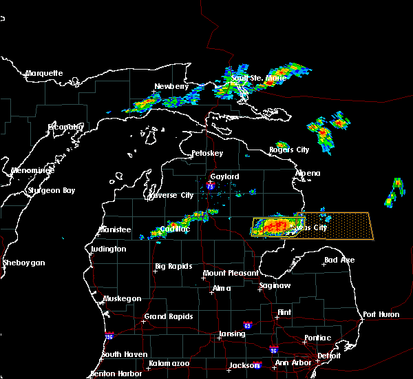 Radar Image for Severe Thunderstorms near Au Sable, MI at 7/27/2019 3:24 PM EDT