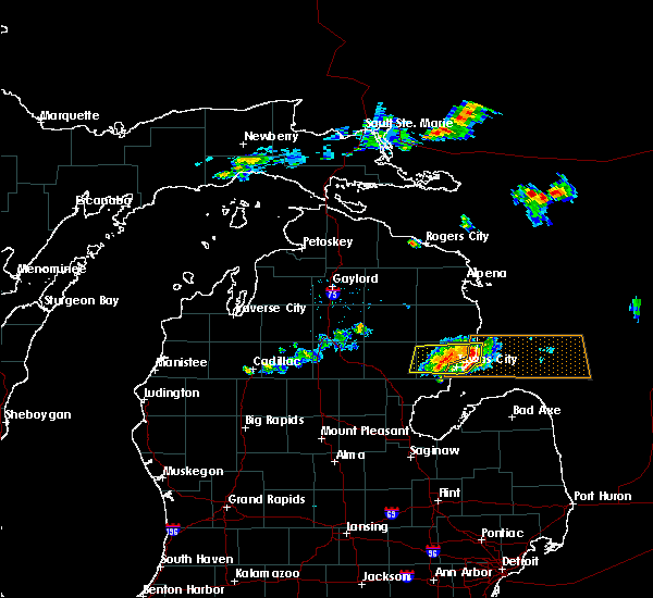 Radar Image for Severe Thunderstorms near Au Sable, MI at 7/27/2019 3:44 PM EDT