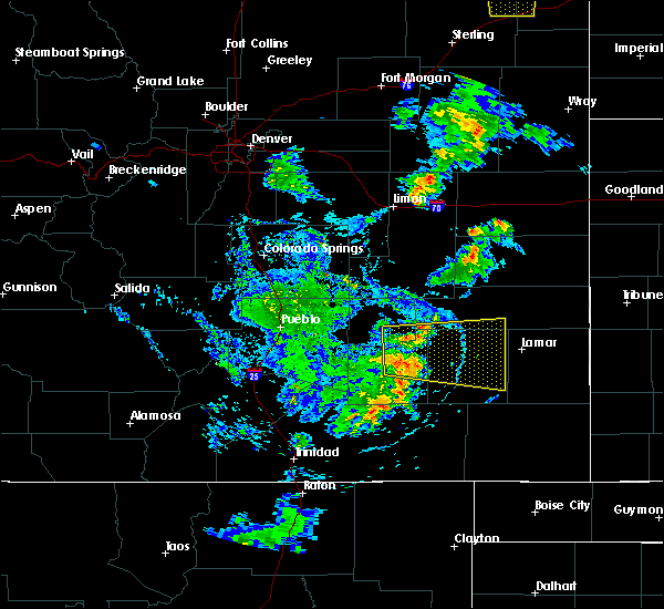 Radar Image for Severe Thunderstorms near Ordway, CO at 7/27/2019 7:44 PM MDT