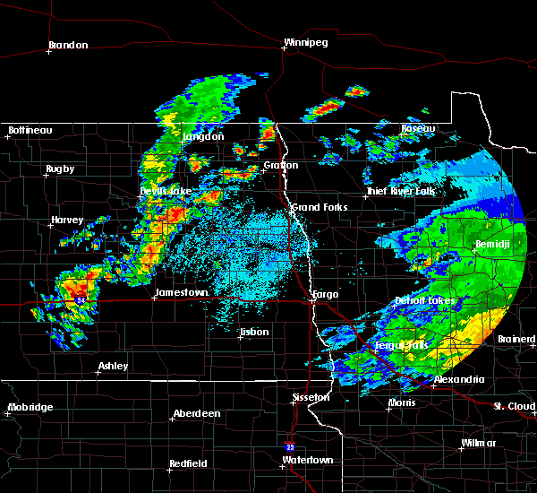 Radar Image for Severe Thunderstorms near Michigan City, ND at 7/28/2019 2:15 PM CDT