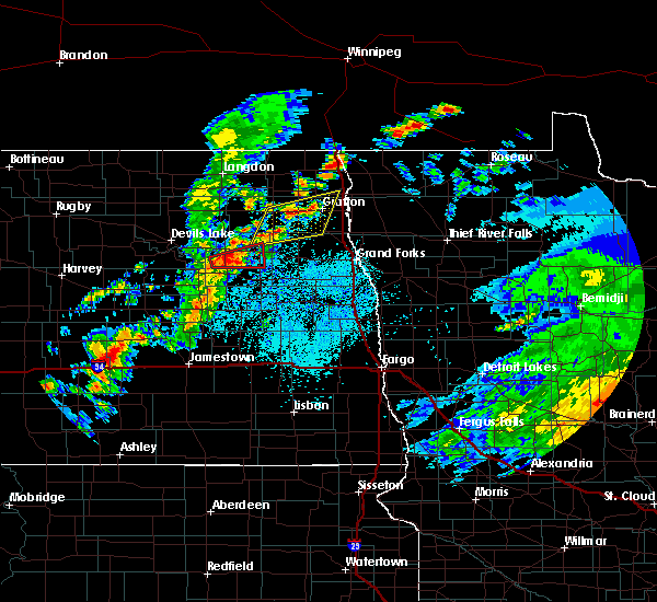 Radar Image for Severe Thunderstorms near Michigan City, ND at 7/28/2019 2:27 PM CDT