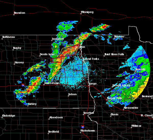 Radar Image for Severe Thunderstorms near Michigan City, ND at 7/28/2019 2:55 PM CDT