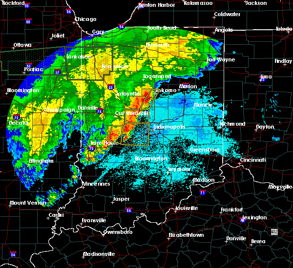 Radar Image for Severe Thunderstorms near Kempton, IN at 6/21/2015 2:09 AM EDT