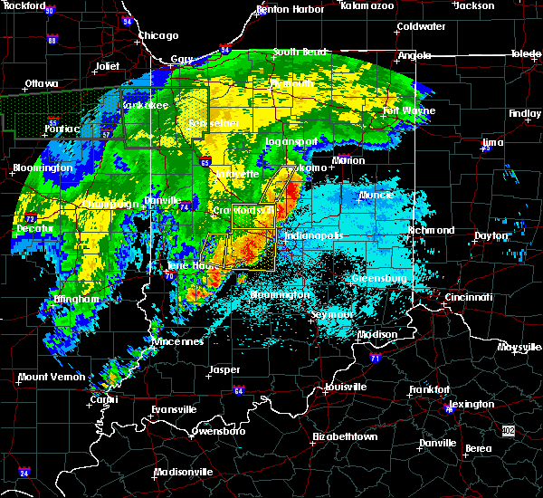 Radar Image for Severe Thunderstorms near Indianapolis, IN at 6/21/2015 2:14 AM EDT