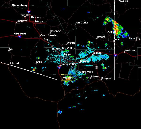 Radar Image for Severe Thunderstorms near Beyerville, AZ at 7/29/2019 2:49 PM MST