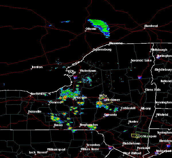 Radar Image for Severe Thunderstorms near Frankfort, NY at 7/29/2019 5:58 PM EDT