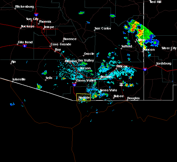 Radar Image for Severe Thunderstorms near Beyerville, AZ at 7/29/2019 3:24 PM MST