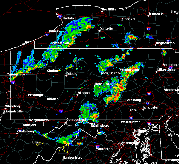 Radar Image for Severe Thunderstorms near Kreamer, PA at 7/30/2019 4:06 PM EDT